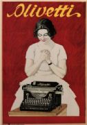 Olivetti typewriters 1921 - Italy Italian vintage old repro poster